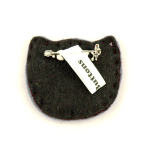 Lumpy Buttons White Kitty Pin in Red for sale at Cats Like Us - 2