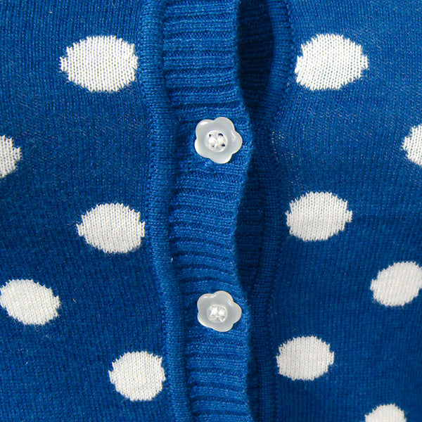 MAK Blue Spotty Dotty Cardigan for sale at Cats Like Us - 3
