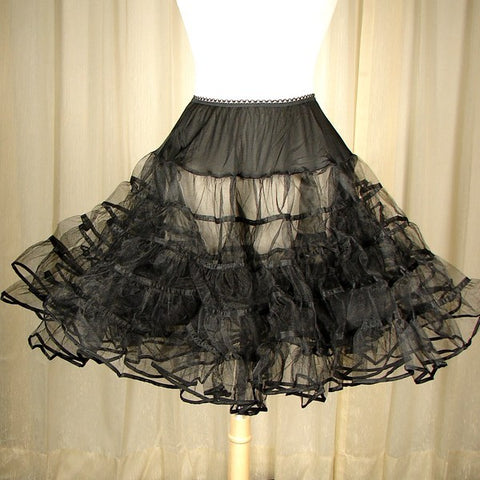 Basic Black Crinoline by Malco Modes - Cats Like Us