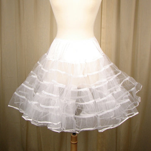 Basic White Crinoline by Malco Modes - Cats Like Us