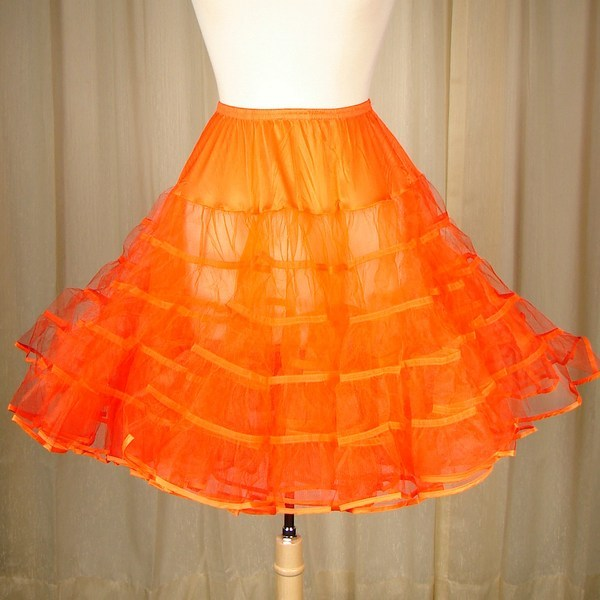 Malco Modes Orange Crinoline for sale at Cats Like Us - 1