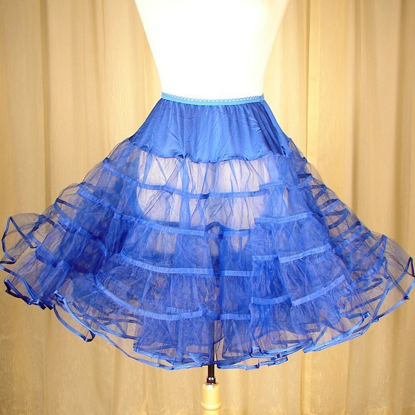 Royal Blue Crinoline by Malco Modes : Cats Like Us