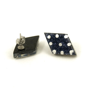 Black Dot Diamond Earrings by Match Accessories : Cats Like Us