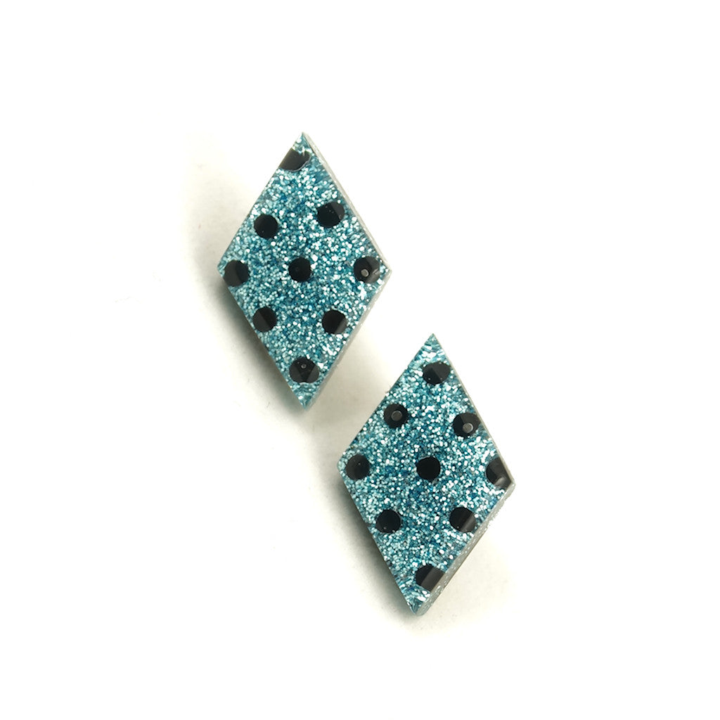 Blueberry Dot Diamond Earrings by Match Accessories : Cats Like Us