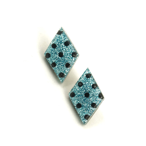 Blueberry Dot Diamond Earrings - Cats Like Us