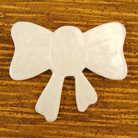 Pearl White Bow Brooch - Cats Like Us