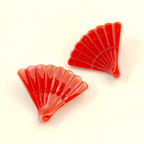 Red Vintage Fan Earrings by Match Accessories : Cats Like Us
