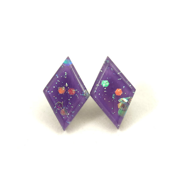 Match Accessories Wisteria Small Diamond Earrings for sale at Cats Like Us - 3