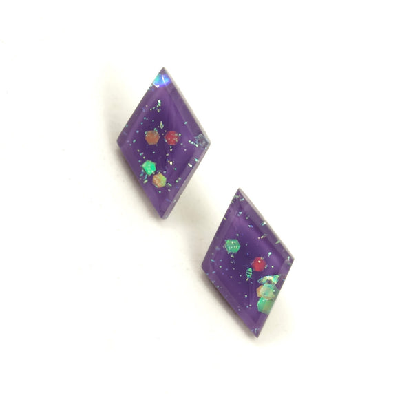 Match Accessories Wisteria Small Diamond Earrings for sale at Cats Like Us - 1