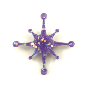 Match Accessories Wisteria Starburst Brooch Pin for sale at Cats Like Us - 1