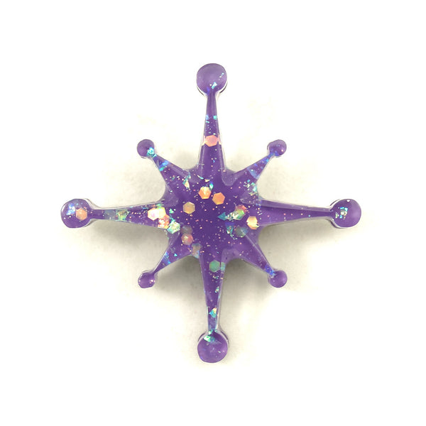 Wisteria Starburst Brooch Pin