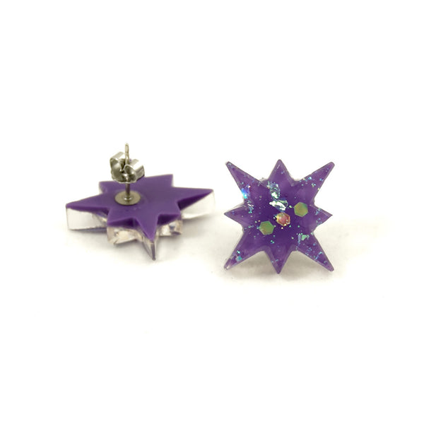 Match Accessories Wisteria Starburst Earrings for sale at Cats Like Us - 2