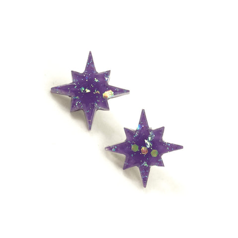 Match Accessories Wisteria Starburst Earrings for sale at Cats Like Us - 1
