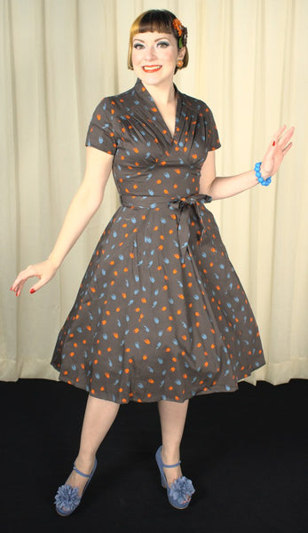 Rose 1940s Abstract Dress