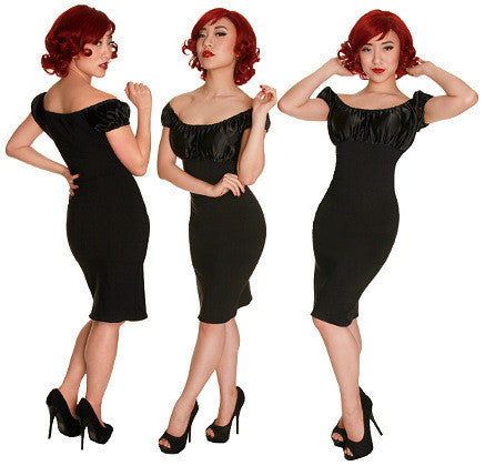 Black Fancy Vamp Dress by Mode Merr : Cats Like Us