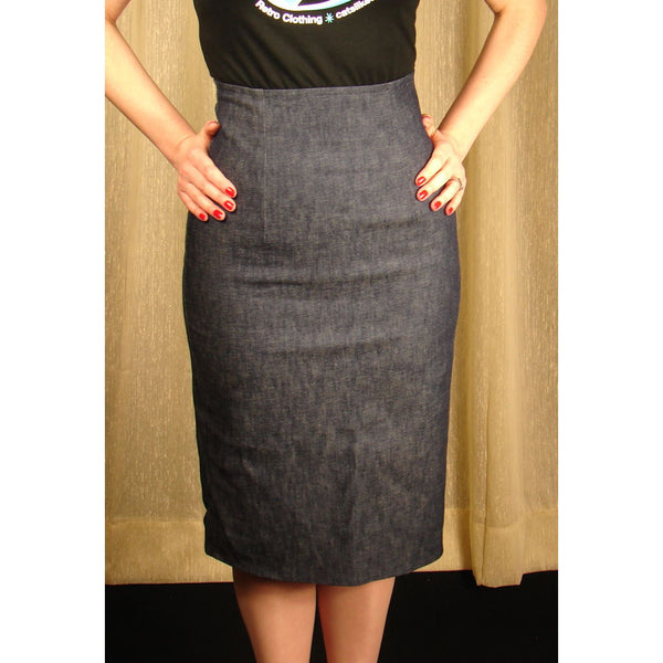 Mode Merr Raised Denim Perfect Skirt for sale at Cats Like Us - 1