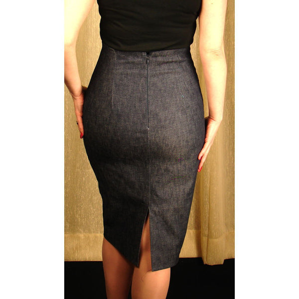 Mode Merr Raised Denim Perfect Skirt for sale at Cats Like Us - 2