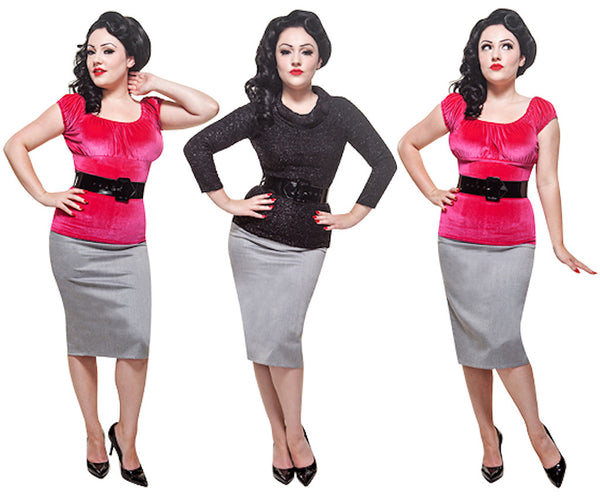 Mode Merr Raised Grey Perfect Skirt for sale at Cats Like Us - 4