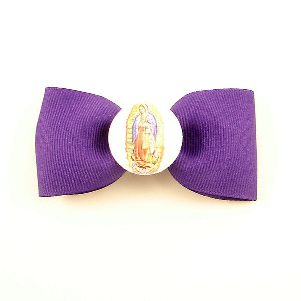 Guadalupe Virgin Mary Hair Bow