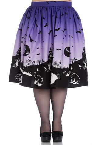 The Haunt Graveyard Skirt by Hell Bunny : Cats Like Us