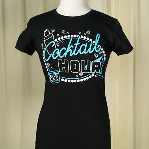 Cocktail Hour T Shirt by Pinky Star : Cats Like Us