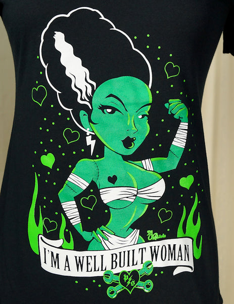 I'm a Well Built Woman T Shirt - Cats Like Us