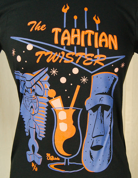 Tahitian Twister T Shirt by Pinky Star : Cats Like Us