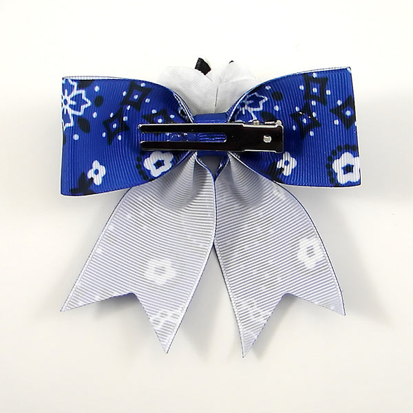 Blue Horseshoe Hair Bow by Punk Up Bettie : Cats Like Us