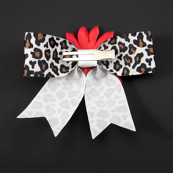 Punk Up Bettie Silver Swallow Red Daisy Bow for sale at Cats Like Us - 3