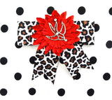 Punk Up Bettie Silver Swallow Red Daisy Bow for sale at Cats Like Us - 4