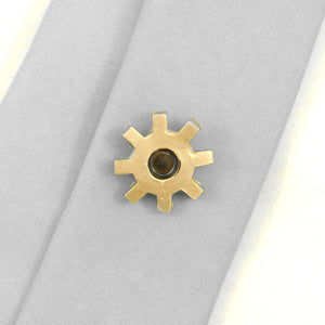 Gold Gear Tie Tack - Cats Like Us