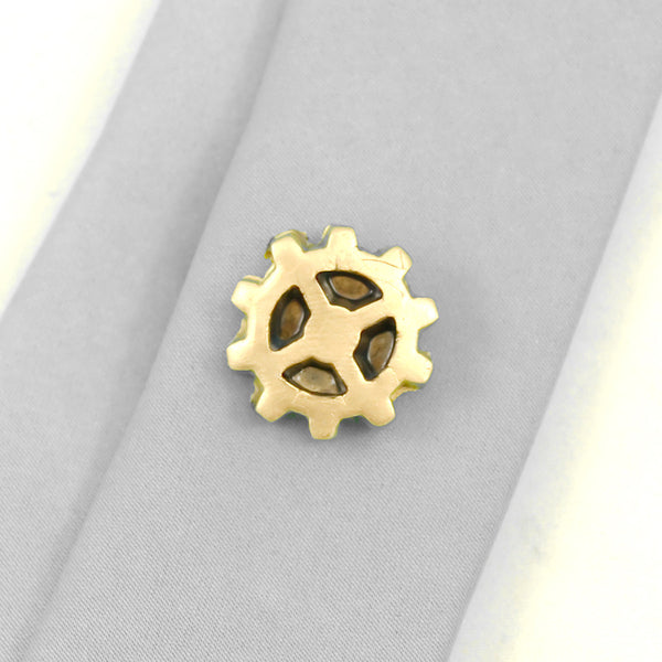Gold Wheel Tie Tack by Rat Bastard Rockabilly : Cats Like Us