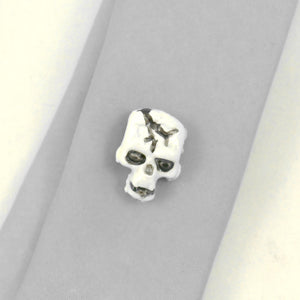 Skull Tie Tack by Rat Bastard Rockabilly : Cats Like Us