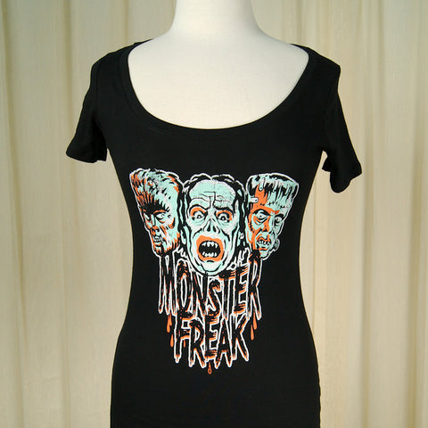 Monster Freak Womens T Shirt by Retro A Go Go : Cats Like Us