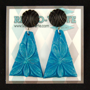 Blue Wild Flower Earrings