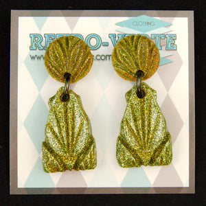 Gold Hawaiian Frog Earrings