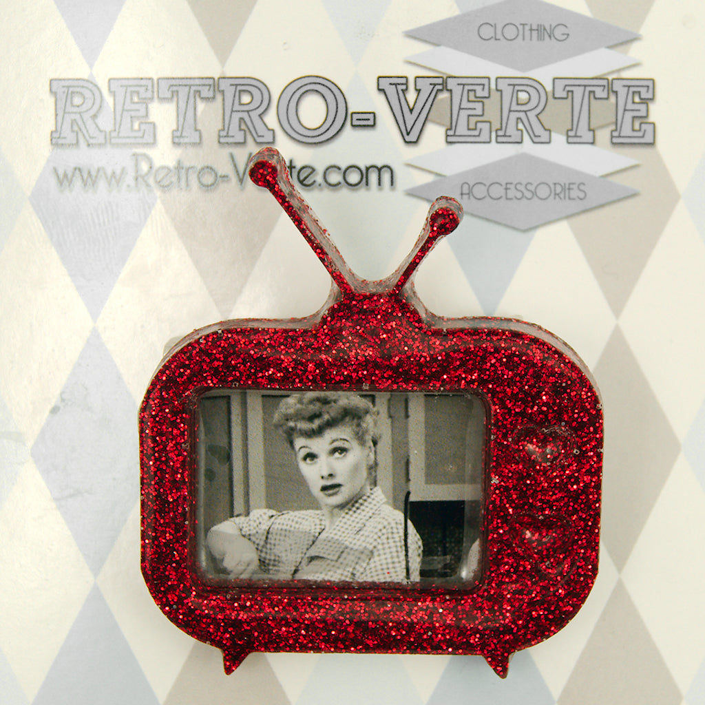 I Love Lucy TV Brooch