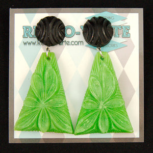 Lime Wild Flower Earrings
