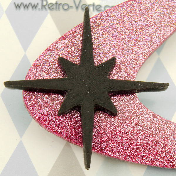 Pink Atomic Starburst Brooch by Retro-Verte : Cats Like Us