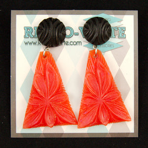Red Wild Flower Earrings