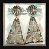 Retro Verte Silver Wild Flower Earrings