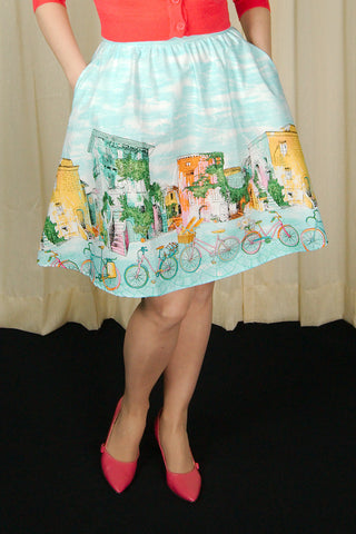 Alices Adventures Bicycle Skirt by Retrolicious - Cats Like Us