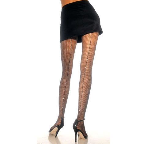 Leg Avenue Rhinestone Fishnet Pantyhose for sale at Cats Like Us