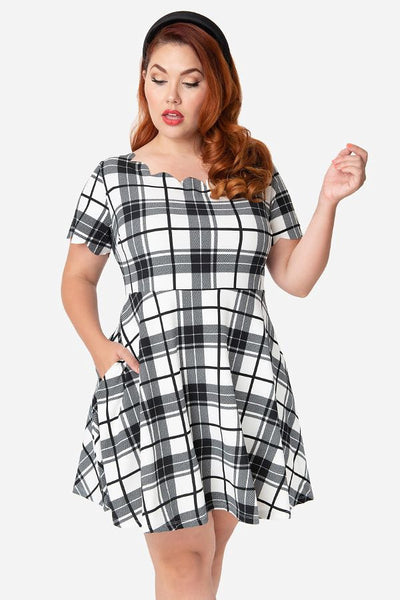 Black & White Charmed Dress