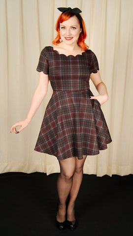 Plaid Charmed Flair Dress