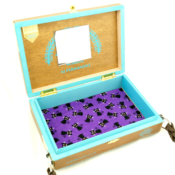 Dancing Graveyard Cat Box Purse - Cats Like Us