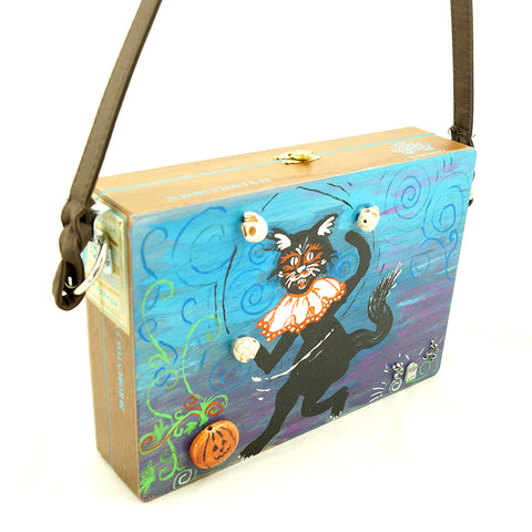 Dancing Graveyard Cat Box Purse by Smoking Hot Bags : Cats Like Us