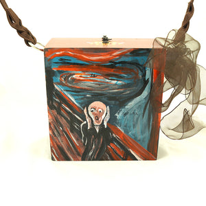 Munch's Scream Cigar Box Purse - Cats Like Us
