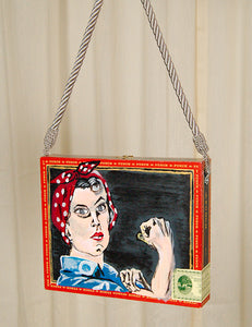 We Can Do It Rosie Box Purse