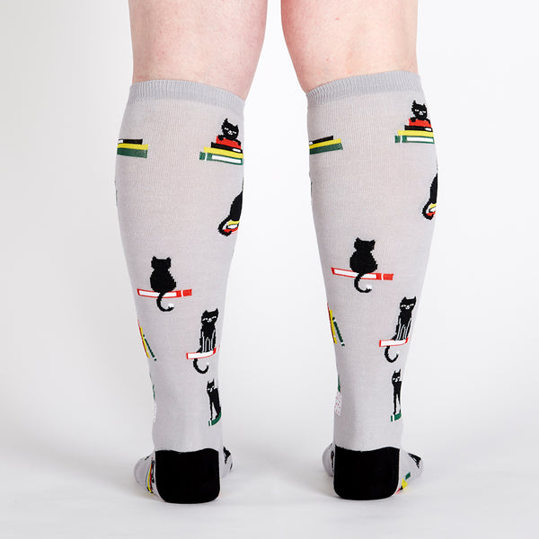 Booked For Meow Knee Socks